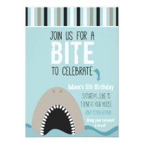 Shark & Stripes Birthday Invitation
