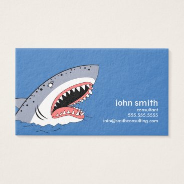 Professional Business Shark styled business card template.