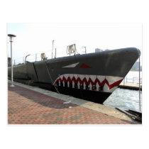 Shark Sub Postcard