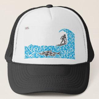 shark surfer trucker hat