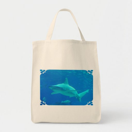 Shark Swimming Grocery Tote Tote Bag