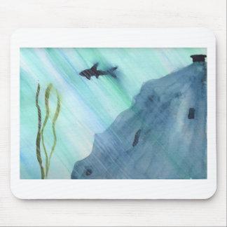Shark Swimming Mouse Pad