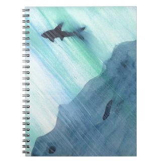 Shark Swimming Notebook