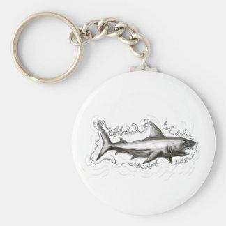 Shark Swimming Water Tattoo Keychain