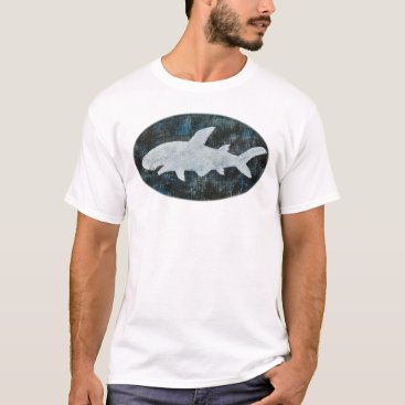 Beach Themed Shark T-shirt Black White Shark T-shirt Beach Tee