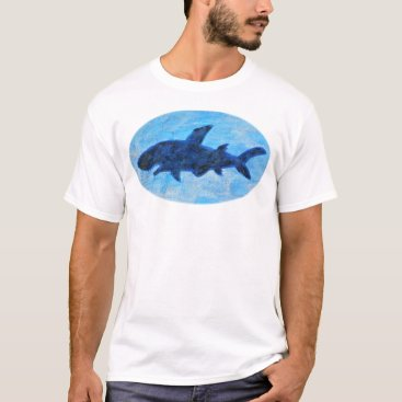 Beach Themed Shark T-shirt Blue Shark T-shirt Beach Lover Tee