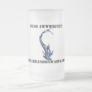 SHARK TATTOO - 04, www.brandonwaipa.com, TEAM A... Frosted Glass Beer Mug