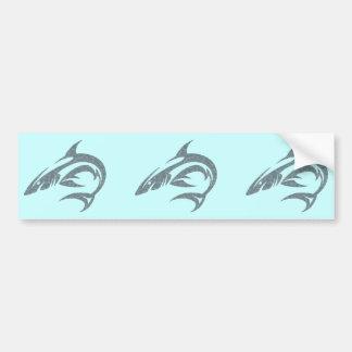 Shark Tattoo Car Bumper Sticker