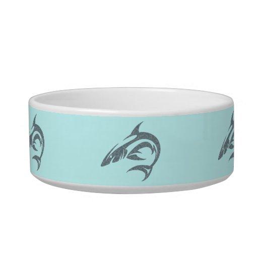 Shark Tattoo Cat Food Bowl
