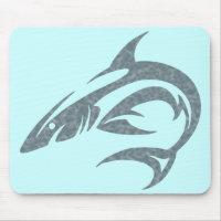 Shark Tattoo Mouse Pad