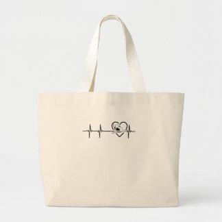 Shark Tee Shirt Large Tote Bag