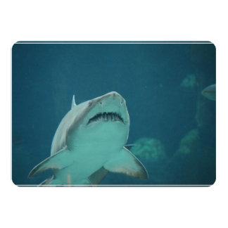 """Shark Teeth 5"""" X 7"""" Invitation Card"""