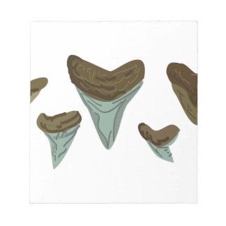 Shark Teeth Note Pad