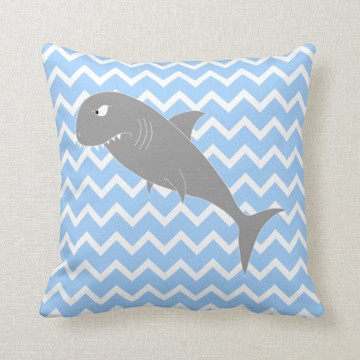 Shark. Throw Pillows