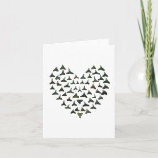 Shark Tooth Valentine Notecard