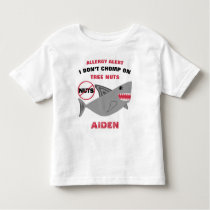 Shark Tree Nut Allergy Alert Personalized Boys Toddler T-shirt