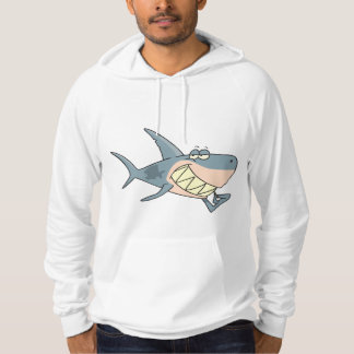 Shark Using a Toothpick Mens Hoodie