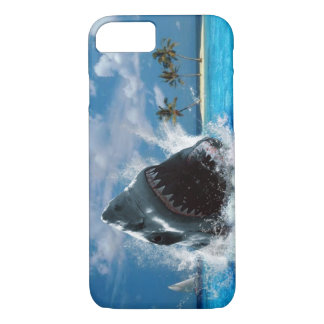 Shark Vacation Island iPhone 7 Case