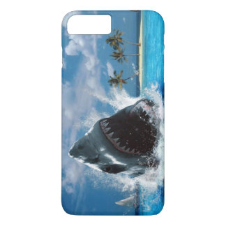 Shark Vacation Island iPhone 7 Plus Case