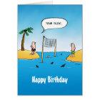 Shark Volleyball Birthday Card