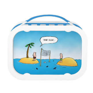 Shark Volleyball Funny Blue Lunchbox