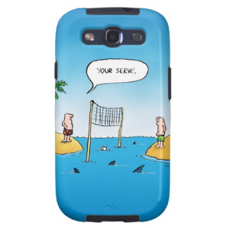 Shark Volleyball Funny Cartoon Samsung Galaxy SIII Case