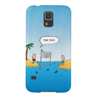 Shark Volleyball Funny Cartoon Cases For Galaxy S5