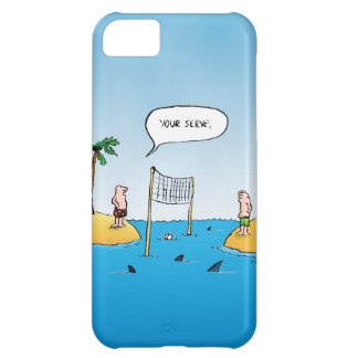Shark Volleyball Funny Cartoon Cover For iPhone 5C