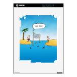 Shark Volleyball Funny Cartoon Decals For iPad 2