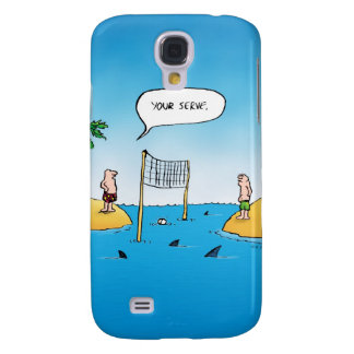 Shark Volleyball Funny Cartoon Galaxy S4 Cover