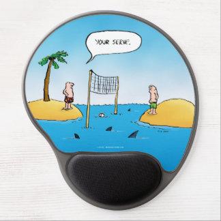 Shark Volleyball Funny Cartoon Gel Mouse Pad