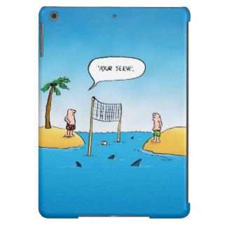 Shark Volleyball Funny Cartoon iPad Air Case