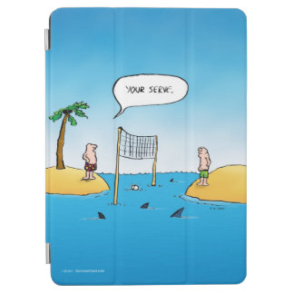 Shark Volleyball Funny Cartoon iPad Air Cover