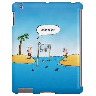 Shark Volleyball Funny Cartoon iPad Case