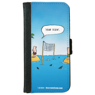 Shark Volleyball Funny Cartoon iPhone 6/6s Wallet Case