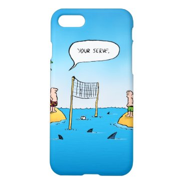 Beach Themed Shark Volleyball Funny Cartoon iPhone 7 Case