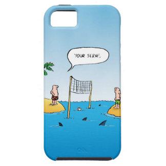 Shark Volleyball Funny Cartoon iPhone SE/5/5s Case