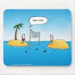 Shark Volleyball Funny Cartoon Mouse Pad