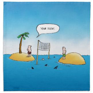 Shark Volleyball Funny Cartoon Napkins