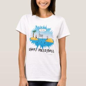 Shark Volleyball Funny Cartoon T-Shirt