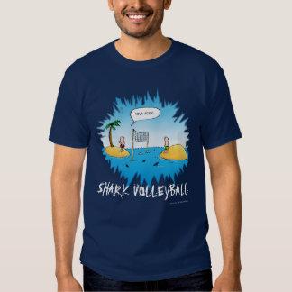Shark Volleyball Funny Cartoon Tee Shirt