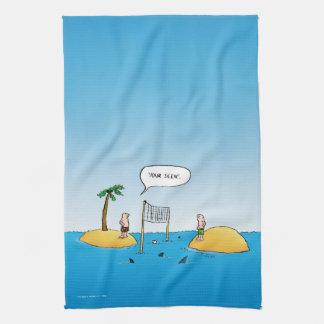 Shark Volleyball Funny Cartoon Towels