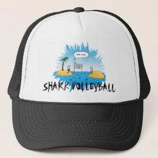 Shark Volleyball Funny Cartoon Trucker Hat