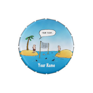 Shark Volleyball Funny Personalized Candy Tin