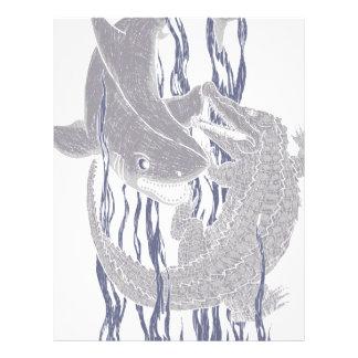 Shark VS Croc Letterhead Design
