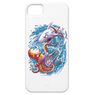 Shark vs giant octopus iPhone SE/5/5s case