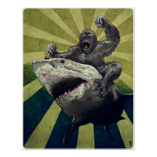 Shark vs. Gorilla Poster