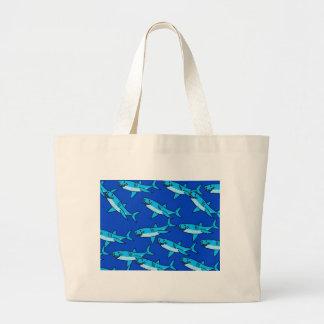 Shark Wallpaper Large Tote Bag