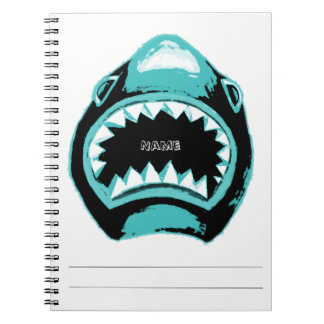 Shark Watercolor Green Illustration Notebook