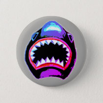 Shark Watercolor Illustration Button